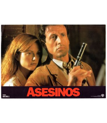 "Assassins - Photo originale 13.5"" x 9.5"" avec Sylvester Stallone et Julianne Moore"