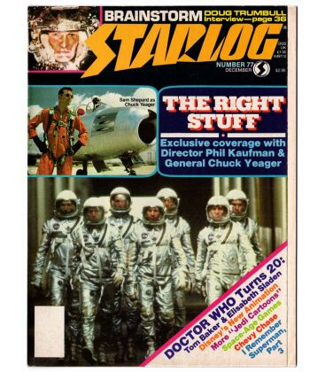 Starlog Magazine N°77 - December 1983 with The Right Stuff