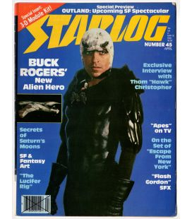 Starlog N°45 - Avril 1981 - Ancien magazine américain avec Buck Rogers