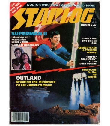 Starlog N°47 - Juin 1981 - Ancien magazine américain avec Christopher Reeve en Superman