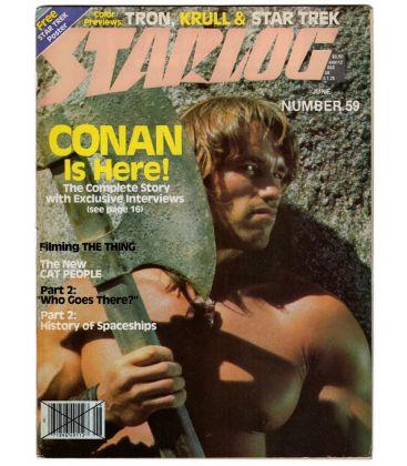 Starlog N°59 - Juin 1982 - Ancien magazine américain avec Conan le Barbare