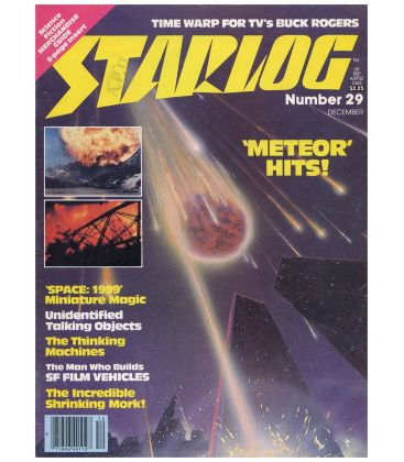 Starlog N°29 - Décembre 1979 - Ancien magazine américain avec Meteor