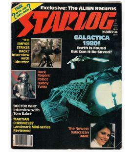 Starlog N°34 - Mai 1980 - Ancien magazine américain avec Battlestar Galactica
