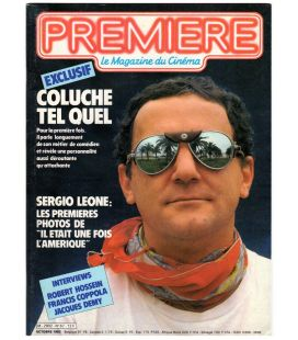 Premiere Magazine N°67 - October 1982 with Coluche