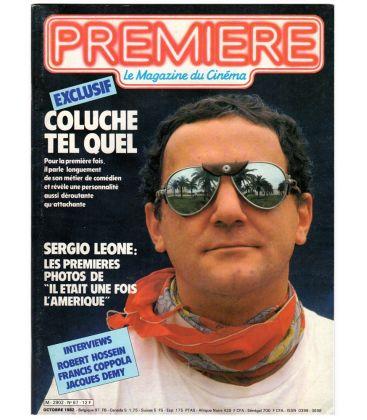 Première N°67 - Octobre 1982 - Magazine français avec Coluche