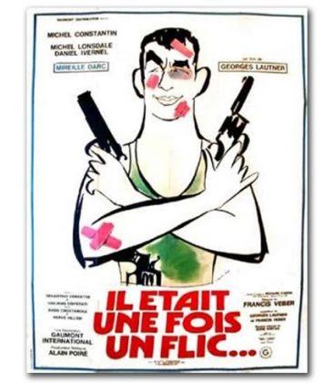 """Il était une fois un flic - 47"""" x 63"""" - Ancienne affiche originale française"""