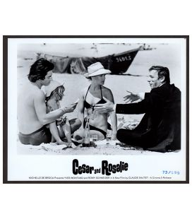 """Cesar and Rosalie - Vintage Photo 10"""" x 8"""" with Sami Frey, Romy Schneider and Yves Montand"""