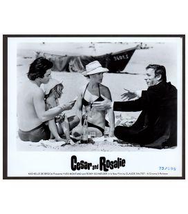 """César et Rosalie - Photo 10"""" x 8"""" avec Sami Frey, Romy Schneider et Yves Montand"""