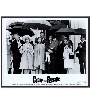 """César et Rosalie - Photo 10"""" x 8"""" avec Yves Montand, Romy Schneider et Sami Frey"""