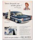Jeanne Crain - Vintage Original Advertisement for De Soto