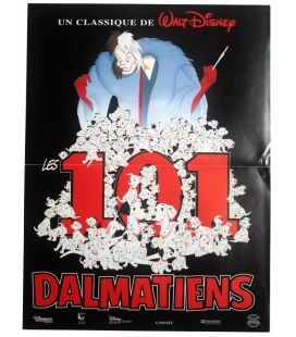 """One Hundred And One Dalmatians - 16"""" x 21"""" - Original French Advance Poster"""