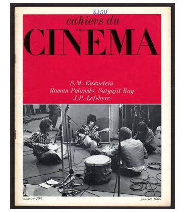 Cahiers du cinéma N°208 - Janvier 1969 - Magazine français avec Les Rolling Stones