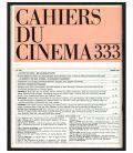 Cahiers du cinéma N°333 - Mars 1982 - Magazine français avec Candice Bergen