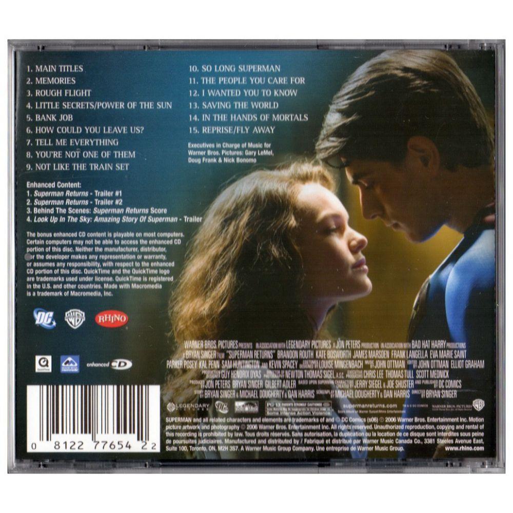Superman Returns - Soundtrack - CD - Cinéma Passion