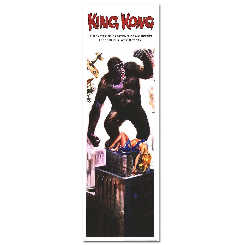 King Kong - 12u0026quot; x 36u0026quot; - US Poster - Cinu00e9ma Passion