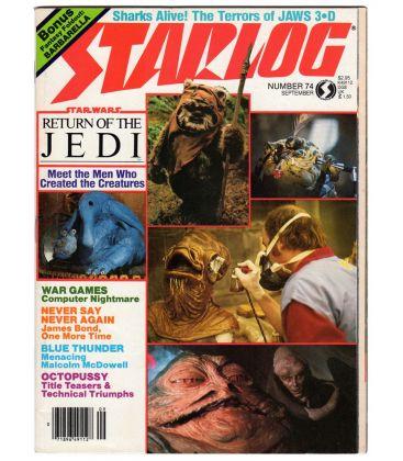 Starlog N°74 - Septembre 1983 - Ancien magazine américain avec Star Wars
