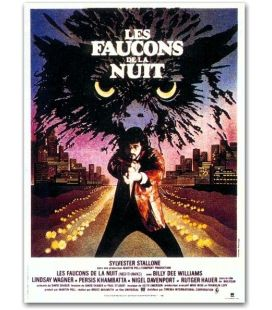 """Nighthawks - 47"""" x 63"""" - Vintage Large French Movie Poster"""