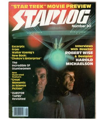 Starlog N°30 - Janvier 1980 - Ancien magazine américain avec Star Trek