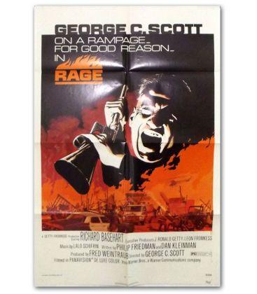 "Rage - 27"" x 40"" - Ancienne affiche originale américaine"