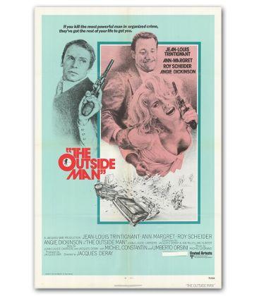 "The Outside Man - 27"" x 40"" - Vintage Original US Poster"