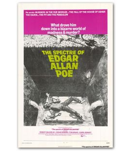 "The Spectre of Edgar Allan Poe - 27"" x 40"" - Vintage Original US Poster"