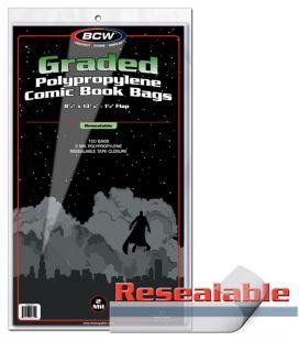 Sacs en plastique refermable pour comic gradé - Paquet de 100 - BCW