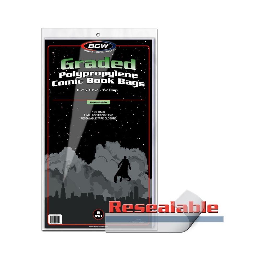 sacs en plastique refermable pour comic grad paquet de 100 bcw cin ma passion. Black Bedroom Furniture Sets. Home Design Ideas