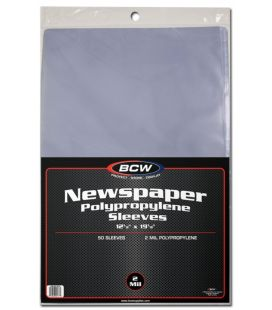 Newspaper sleeves - BCW - Pack of 50
