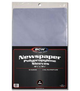 Pochette en plastique pour journaux - BCW - Paquet de 50