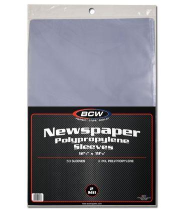 Newspaper sleeves - BCW - Pack of 50
