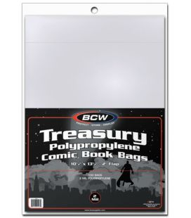 "Treasury 10"" x 13"" bags - BCW - Pack of 100"