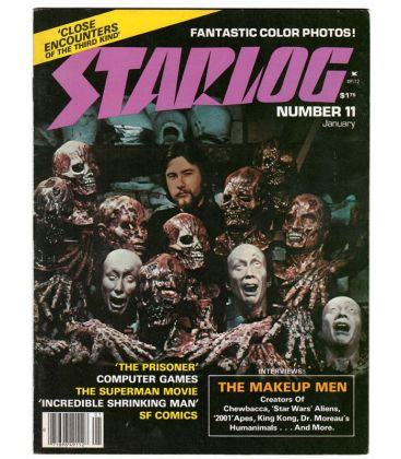Starlog Magazine N°11 - Vintage january 1978 issue with Rick Baker