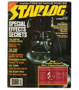 Starlog N°56 - Mars 1982 - Ancien magazine américain avec Darth Vader