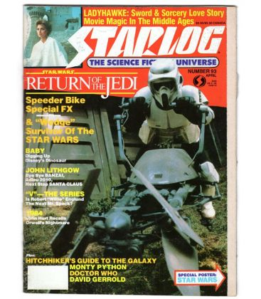 Starlog N°93 - Avril 1985 - Ancien magazine américain avec Star Wars
