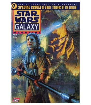 Star Wars Galaxy N°7 - Printemps 1996 - Magazine américain avec la princesse Leia