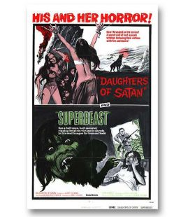 "Daughters of Satan / Superbeast - 27"" x 40"" - Ancienne affiche originale américaine"