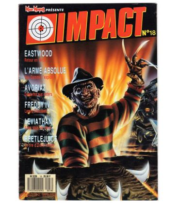 Impact Magazine N°18 - December 1988 issue with Freddy krueger