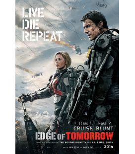 "Edge of tomorrow - 27"" x 40"" - Affiche préventive originale américaine"
