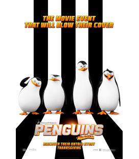 """Les Pingouins de Madagascar - 27"""" x 40"""" - Affiche préventive originale américaine"""