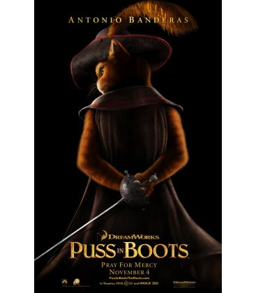 """Puss in Boots - 27"""" x 40"""" - Original Advance US Poster"""