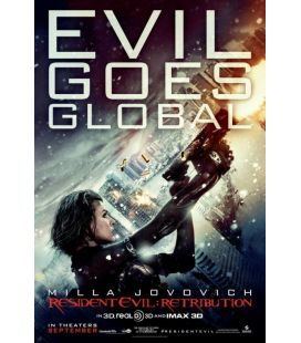"""Resident Evil : Retribution - 27"""" x 40"""" - Affiche préventive originale américaine"""