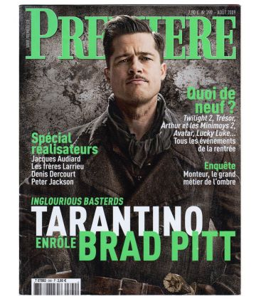 Première Magazine N°390 - August 2009 with Brad Pitt