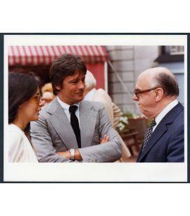 "Carole Laure, Alain Delon and Jean Drapeau - Vintage Original Photo 10"" x 8"" N°"
