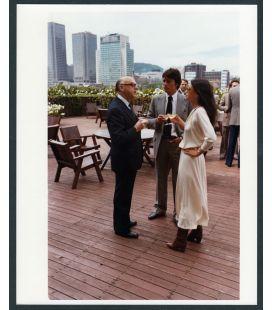 "Carole Laure, Alain Delon and Jean Drapeau - Vintage Original Photo 8"" x 10"""