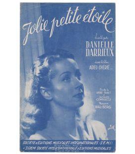 Adieu chérie - Vintage Sheet Music - Jolie petite étoile