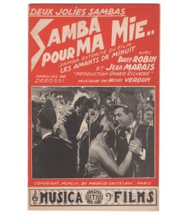 Les Amants de minuit and La Fugue de monsieur Perle - Vintage Sheet Music
