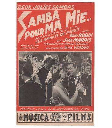 Les Amants de minuit and La Fugue de monsieur Perle - Vintage Sheet Music