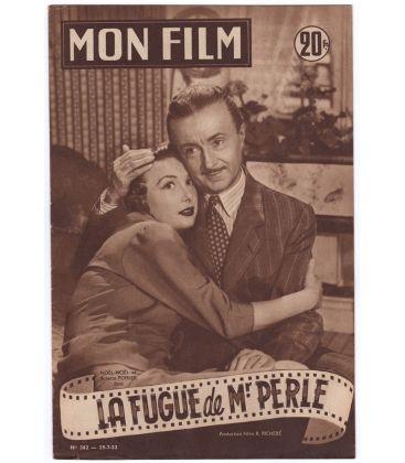 La Fugue de monsieur Perle - Vintage 1953 Mon Film Magazine N°362