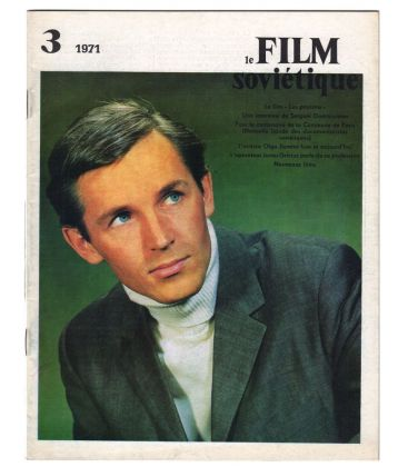 Le Film Sovietique Magazine N°3 - Vintage 1971 issue with Stanislave Lubchine