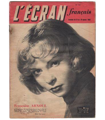 L'Ecran français N°341 - 23 janvier 1952 - Magazine français avec Françoise Arnoul